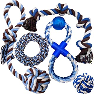 Otterly Pets Puppy Dog Pet Rope Toys for Medium to Large Dogs (5-Pack)