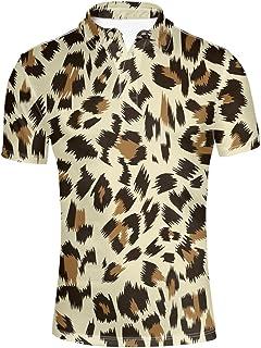Coloranimal Fashion Camouflage Men's Short Sleeve Pique Polos Shirt XS-XXXL