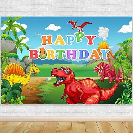 6x4ft Background Cartoon Dinosaur World Photography Backdrop Photo Studio Props for Children Newborn LHFU290
