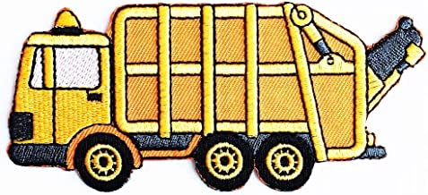 MINIS GARBAGE TRUCK Iron On Patch Embroidered Applique New Set 2 pcs