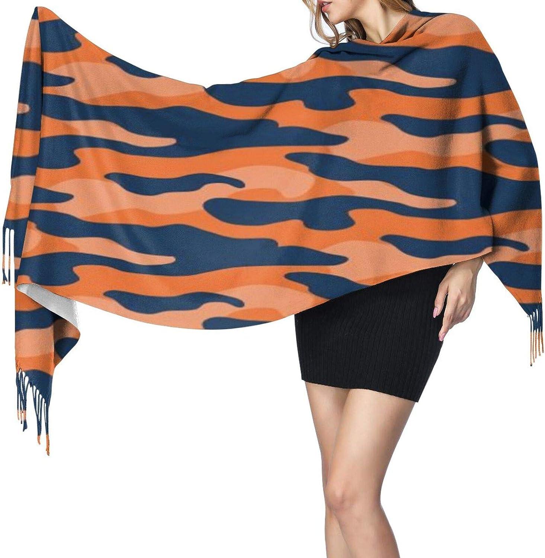 Cashmere fringed scarf Auburn Camouflage winter extra large scarf