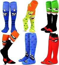 TeeHee Novelty Cotton Knee High Fun Socks 6-Pack for Women (Monsters)