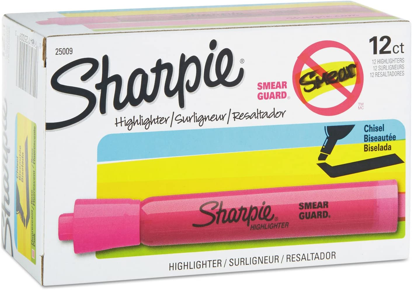 Sharpie 25009 Accent Tank Style Pink Elegant Highlighter Ranking TOP7 Doze Chisel Tip