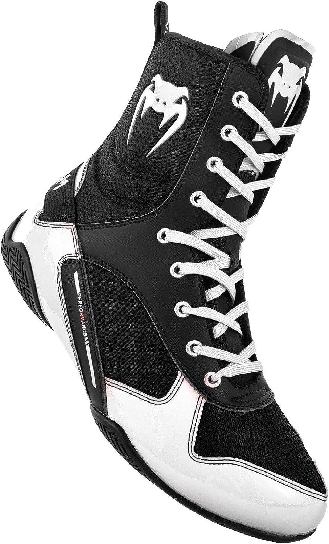 Venum Unisex-Erwachsene Elite Boxschuhe, (Schwarz Weiß 108), 36.5 EU