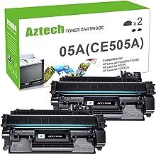 Best Aztech Compatible Toner Cartridge Replacement for HP 05A CE505A HP Laserjet P2035 P2035N P2055DN (Black, 2-Pack) Reviews