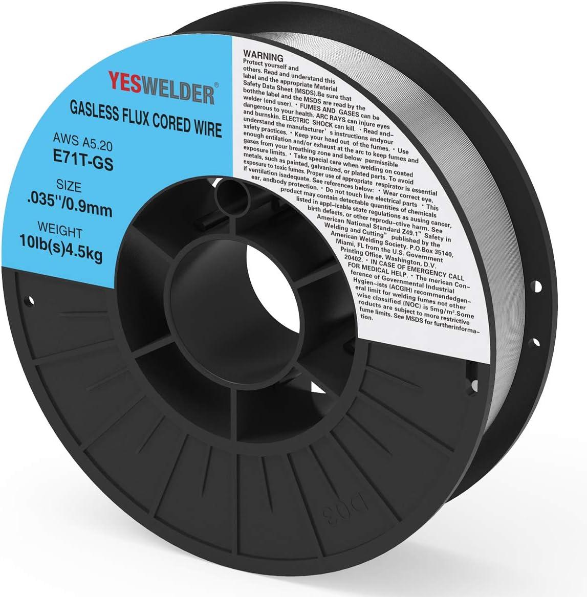Virginia Beach Mall YESWELDER Flux Core Mig Wire Max 44% OFF E71TGS.035-Diameter 10 Steel Mild