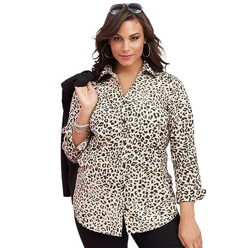 89f6db4e533d Roamans Women's Plus Size The Kate Shirt