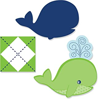 Big Dot of Happiness Tale of a Whale - DIY Shaped Baby Shower or Birthday Party Cut-Outs - 24 Count