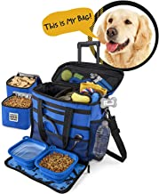 Rolling Dog Travel Bag - Week Away Tote with Wheels for Med and Large Dogs