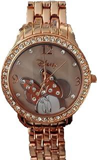 Disney MN2082 Minnie Mouse Rosegold Rhinestone - Reloj Acentuado para Mujer