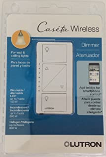 Lutron PD-6WCL-WH-R Caseta Wireless 150-Watt Multi-Location In-Wall Dimmer, White