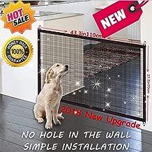 Nifogo Magic Gate Dog - Barrera de Seguridad para Perro,Plegable Portátil Puerta de Seguridad Aislada para Perros y Mascotas, 110 x 72 cm (Negro Nuevo)