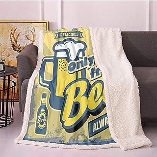 SeptSonne Man Cave Fleece Throw Blanket