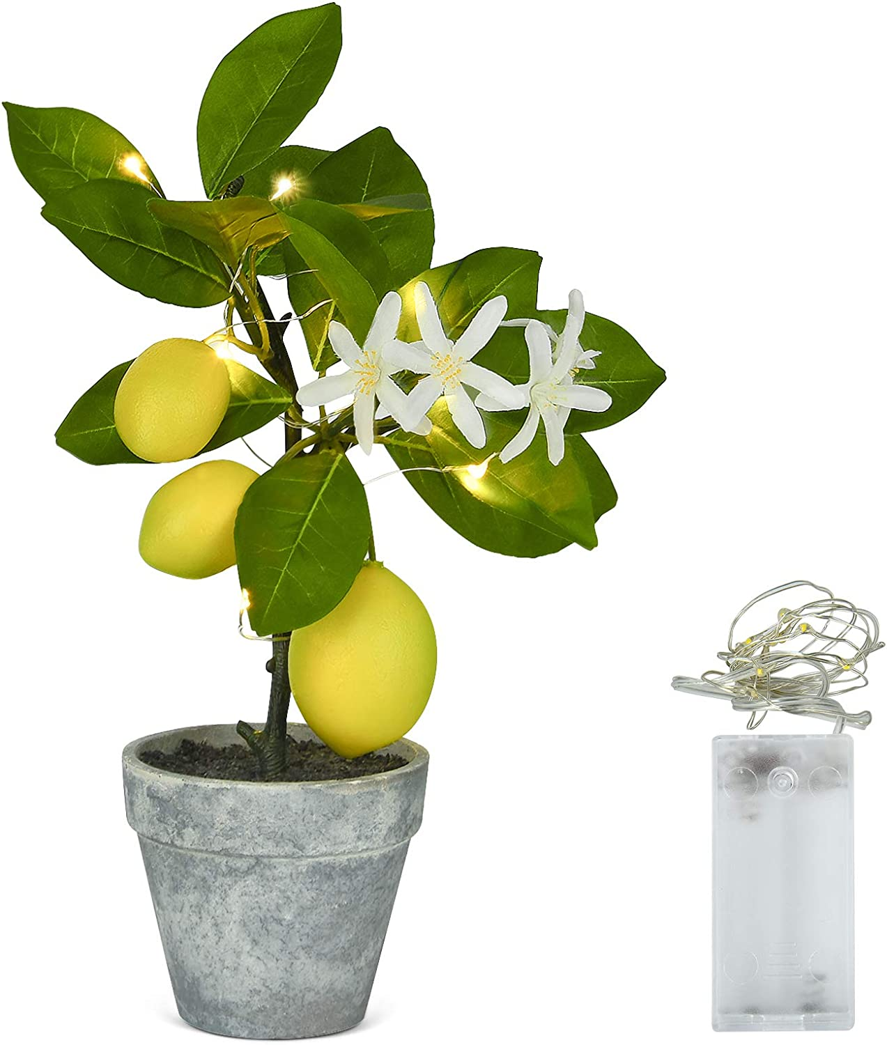 Shiny Flower Artificial Lemon specialty shop Tree Tr Mail order Mini Topiary Potted
