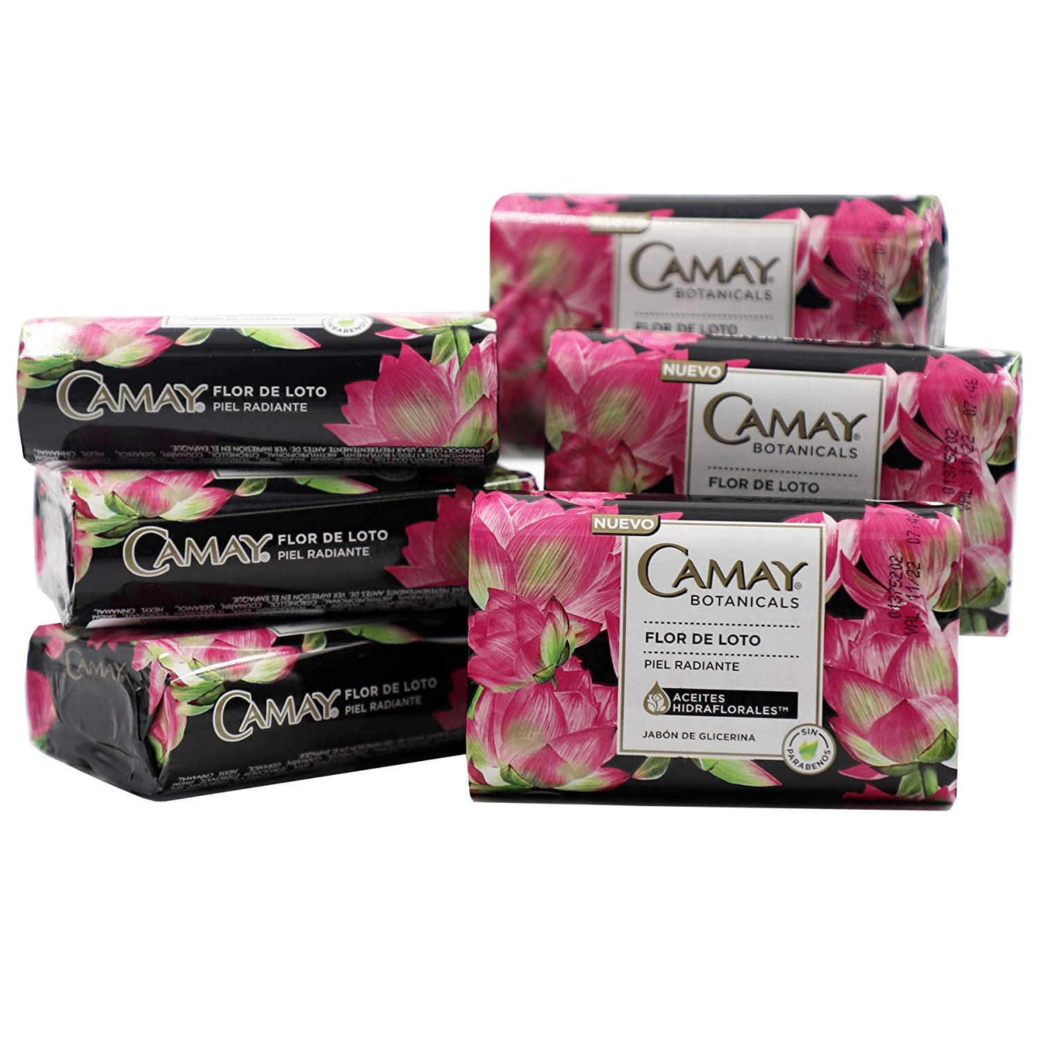 Camay Lotus Flower Bar Soap, Cleans your skin, Helps Moisturize your Skin, Floral Scented, Radiant Skin, 6-Pack of 98 Oz, 6 Bar Soaps