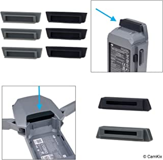 Silicone Battery and Charging Port Protectors for DJI Mavic Pro/Platinum Drone - 6X Battery and 2X Charge Port Cover - Power Connection Safety Caps - Perfect Travel and Storage Solution