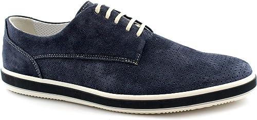 IGI & CO 3107633 Chaussures de Sport Bleues pour pour pour Hommes Lacets élégants perforés Daim 7c5