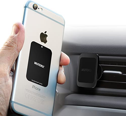 Wuteku Magnetic Car Air Vent Phone Mount Compatible with Any Phone - Heavy Duty Adjustable Mounting System