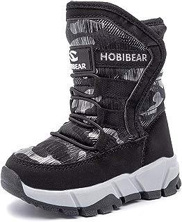 UBFEN Kids Women Snow Boots Girls Winter Warm Waterproof...