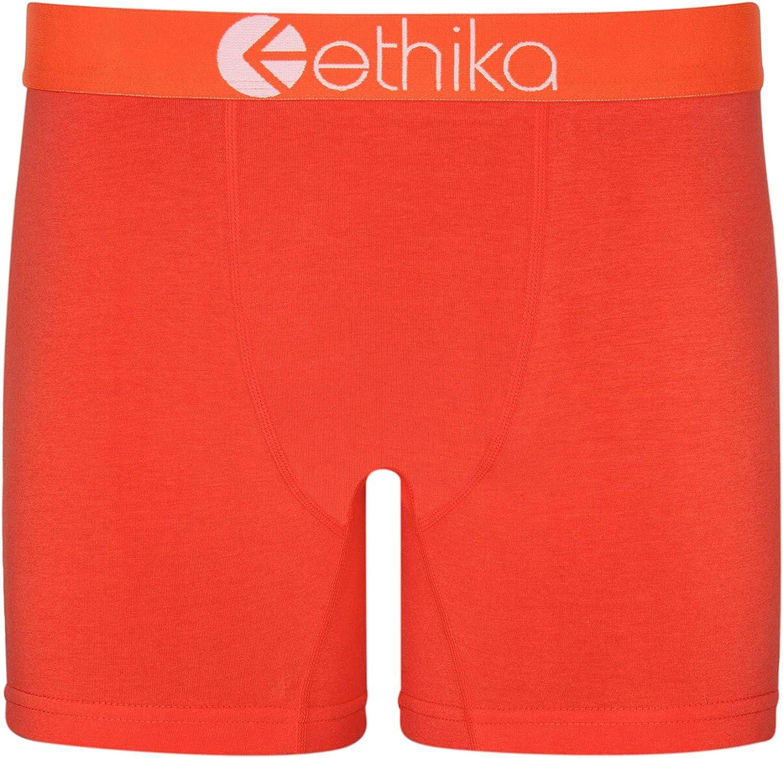 Ethika Mens Mid Boxer Briefs   Native Orange