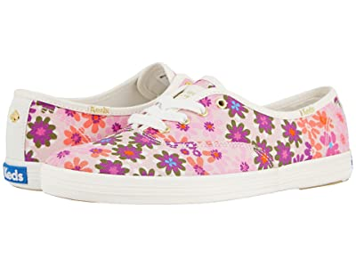 Keds x kate spade new york Champion Pacific Petals (Pink Multi Printed Canvas) Women