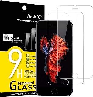 """NEW'C 2-Stuks, Screen Protector voor iPhone 6, 6s (4.7""""), Gehard Glass Schermbeschermer Film 0.33 mm ultra transparant, ul..."""