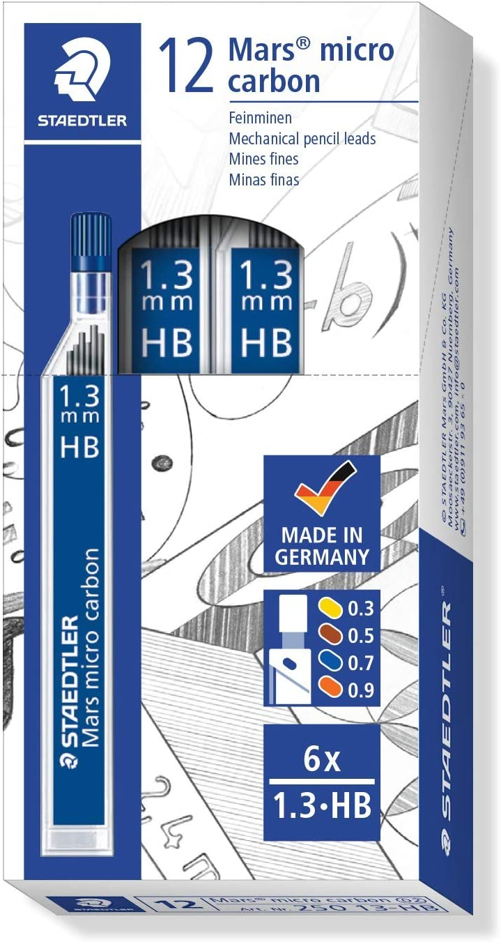 Max 87% OFF Staedtler Mars Micro Carbon Mechanical Tube 6 Refills of Pencil Clearance SALE Limited time