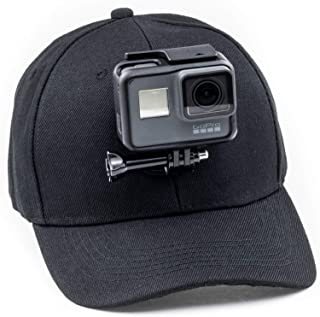 Digicharge Baseball Cap Hat with Action Camera Holder Mount Bracket Compatible for GoPro Hero Akaso Crosstour Campark Fitf...