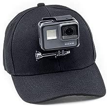 Digicharge Baseball Cap Hat with Action Camera Holder Mount Bracket Compatible for GoPro Hero Akaso Crosstour Campark Fitfort Garmin VIRB Apeman Sony Camkong Motorola Victure Kitvision Nikon Cam