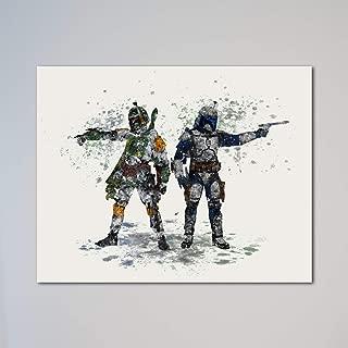 Boba Fett and Jango Fett Bounty Hunters 11 x 14 inches Print