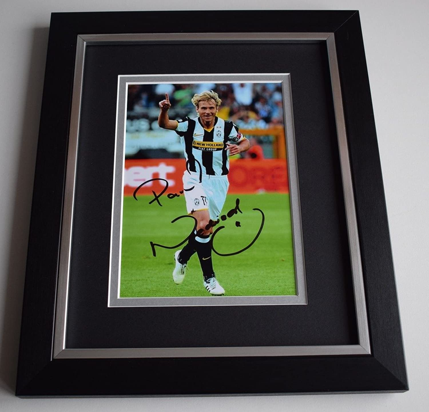 Sportagraphs Pavel Nedved SIGNED 10X8 FRAMED Photo Autograph Display Juventus AFTAL & COA PERFECT GIFT