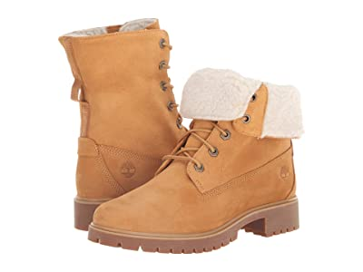 Timberland Jayne Waterproof Teddy Fleece Fold Down (Wheat Nubuck) Women