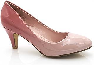 a4edb9f3189d3d Fashion Shoes - Escarpin Femme Vernis - Chaussures Bicolore Effet Dégradé  Dames - Talon Conique Hauteur