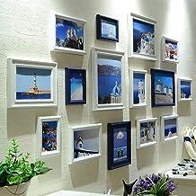 GJNVBDZSF Conjunto de molduras para fotos, conjunto de parede grande com 15 molduras de madeira maciça para janela de vidr...