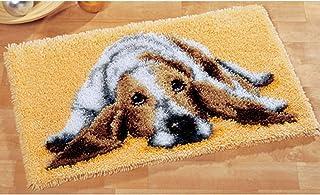 GUARDUU DIY Crochet À La Main Kits Tapis Bricolage Faisant De L'artisanat avec Motif Coloré Imprimé, Kit Broderie Non Fini...