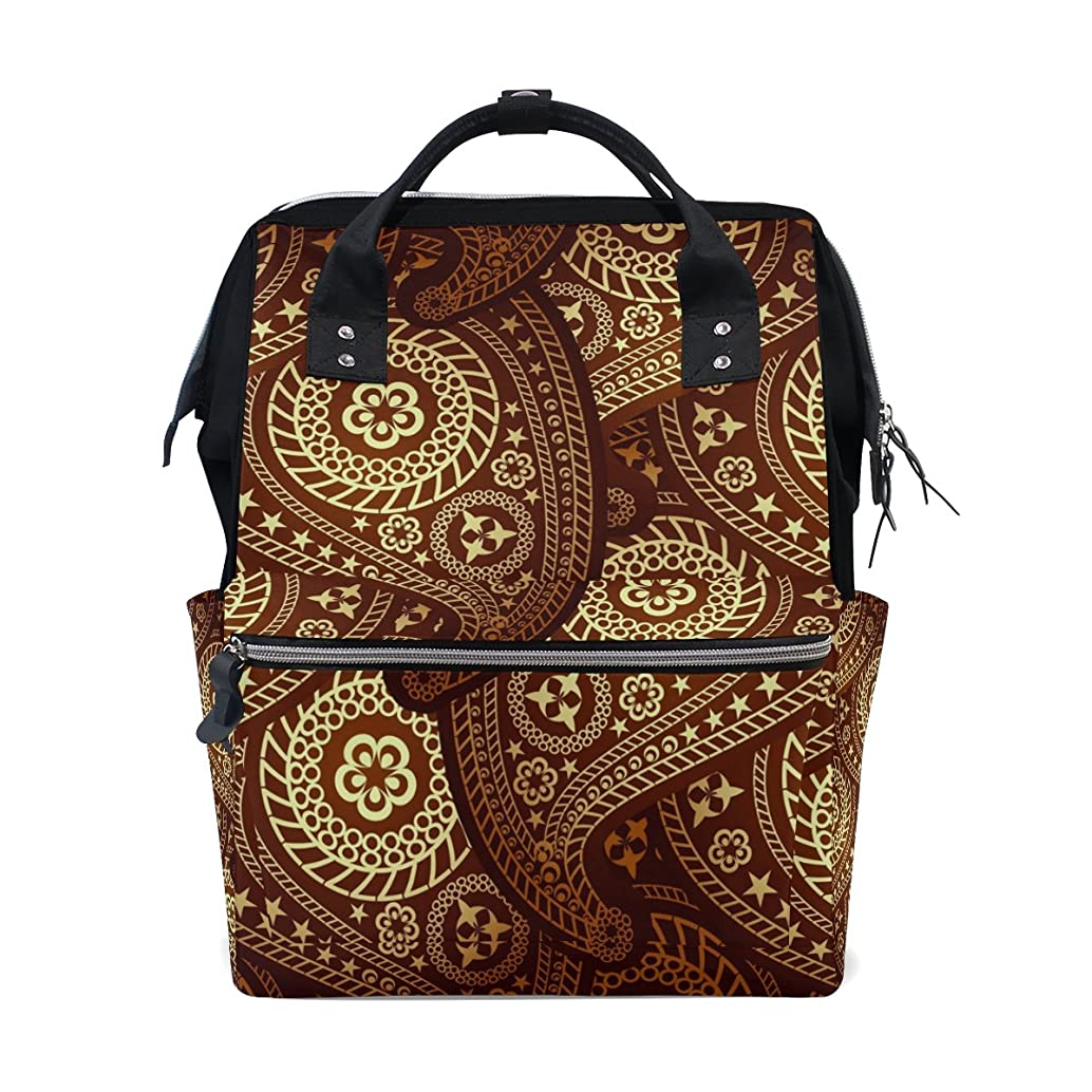 Diaper Bag Multi Functional Stylish Ornate Paisley Large Capacity Nappy Bags for Baby Care Mummy Backpack Durable Travel Backpack