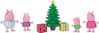 Peppa Pig Wutz 95648 Speelset kerstavond 4 exclusieve beweegbare figuren met kerstboom voor kinderen vanaf 2 jaar Jazwares