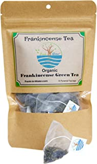 Frankincense Green Tea | 100% Organic Boswellia Frankincense Tea | 15 Premium Full Leaf Pyramid Tea Bags