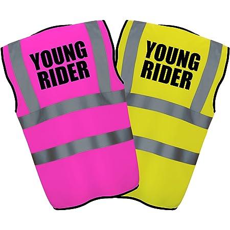 CAUTION DISABLED RIDER HI VIS VIZ YELLOW VEST WAISTCOAT BIKE HORSE RIDER