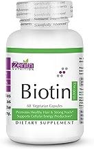 Zenith Nutrition Biotin (Vitamin B7 for Hair, Skin & Nails) (10,000mcg- 60Caps)