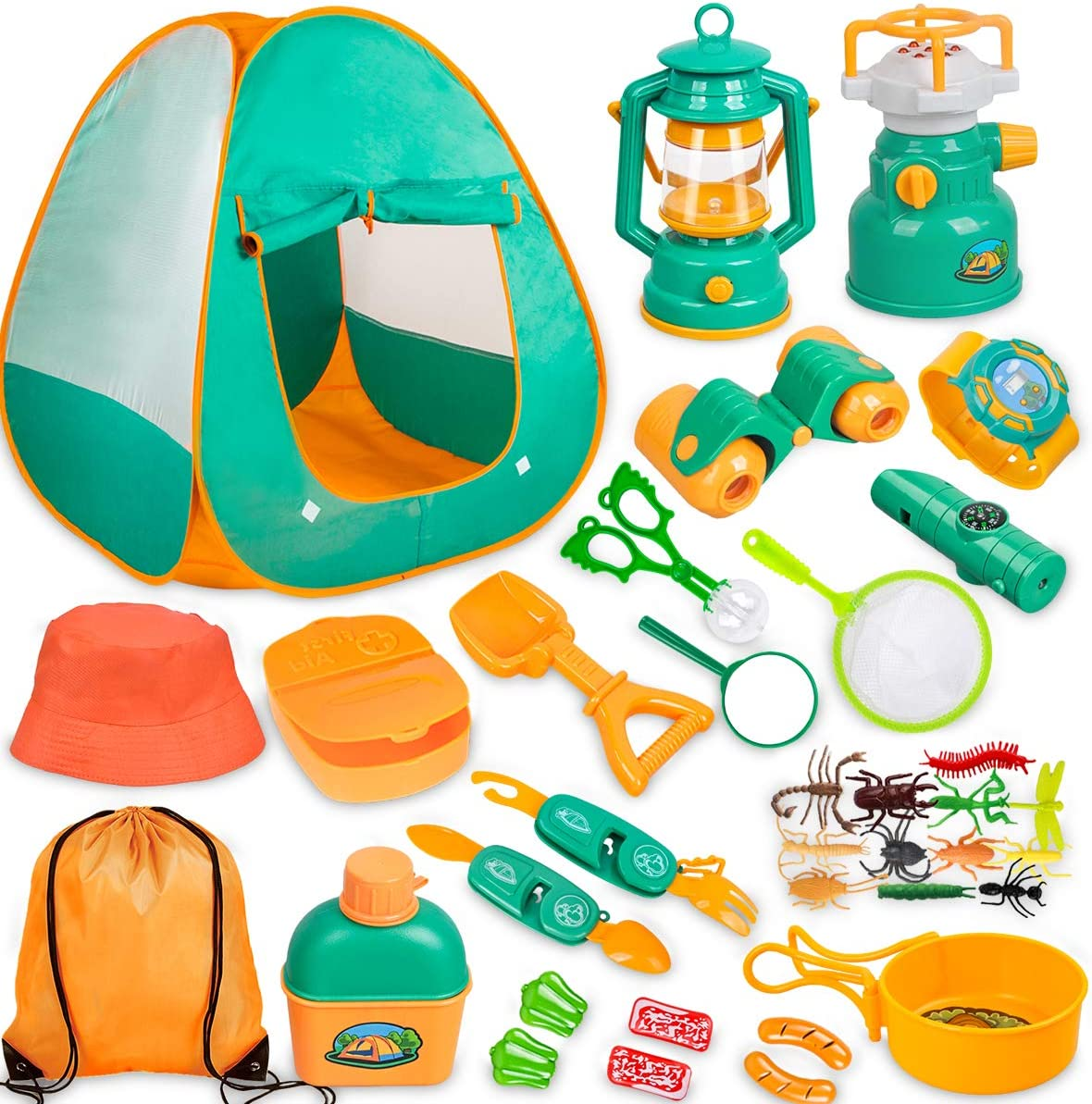 Inexpensive Phoenix Mall Meland Kids Camping Set with Tent Gear - Pret Tool 24pcs
