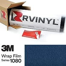 3M 1080 G217 Gloss DEEP Blue Metallic 5ft x 2ft W/Application Card Vinyl Vehicle Car Wrap Film Sheet Roll