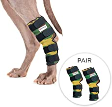 Pet Lovers Stuff Dog Leg Brace for Rear Legs - Hock Support Compression Wraps Ideal for Dogs with Arthritis in Joints, Strains or Sprains, Wound Healing, Loss of Stability (One Pair)