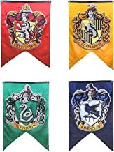 Yi Amoy Harry Potter Hogwarts House Wall Banners, Ultra Premium Double Layered Indoor Outdoor Party Flag - Gryffindor, Slytherin, Hufflepuff, Ravenclaw 4pc Set Collection 75