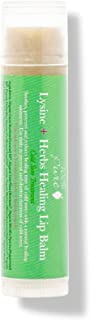 100% PURE Lysine & Herbs Lip Balm, Natural Soothing Lip Treatment for Cold Sores, Moisturizing Lip Care, Cold Sore Treatment w/Tea Tree Oil, Coconut Oil - 0.4 oz