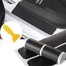 NF orange 4X 5D Carbon Fiber Car Scuff Plate Door Sill Sticker Panel Protector and a..