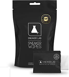 Sneaker LAB Shoe Wipes | All Purpose & Leather Specific Options Available | 12 Individual Wipes Per Pack