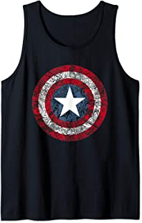 Marvel Captain America Avengers Shield Comic Camiseta sin Mangas