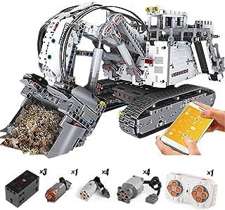 13130 Excavator Motor Crane Set, Compatible 42100 Liebherr R 9800 Excavator Building Blocks Bricks Educational Toys Christ...