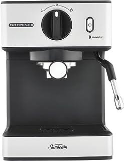 Sunbeam Café Espresso II Coffee Machine | Espresso, Latte & Cappuccino Coffee Maker| 1.7L Water Tank | Milk Frother | 15 B...